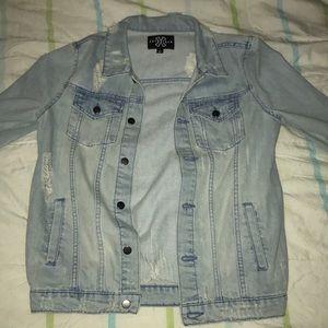 Jackets & Blazers - Jean jacket denim wash ripped